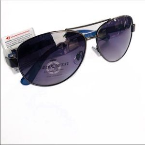 Juicy Couture Sunglasses Aviator Style Blue NWT